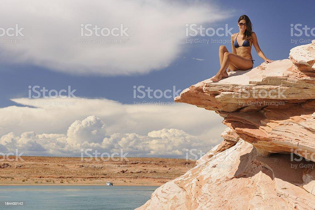 Beauty at the Beach, Lake Powell (XXXL) royalty-free stock photo