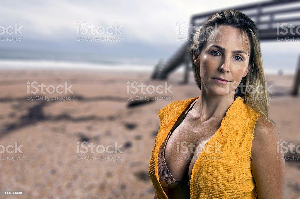 Beauty at the Beach royalty-free stock photo