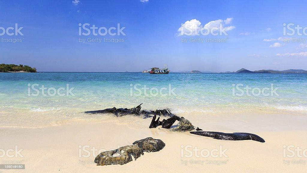 Beauty beach in blue sky royalty-free stock photo