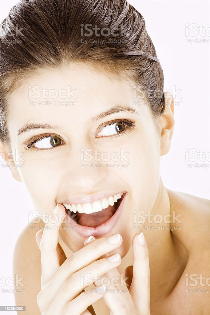 Beauty: Beautiful Fashion Model Smiling royalty-free stock photo
