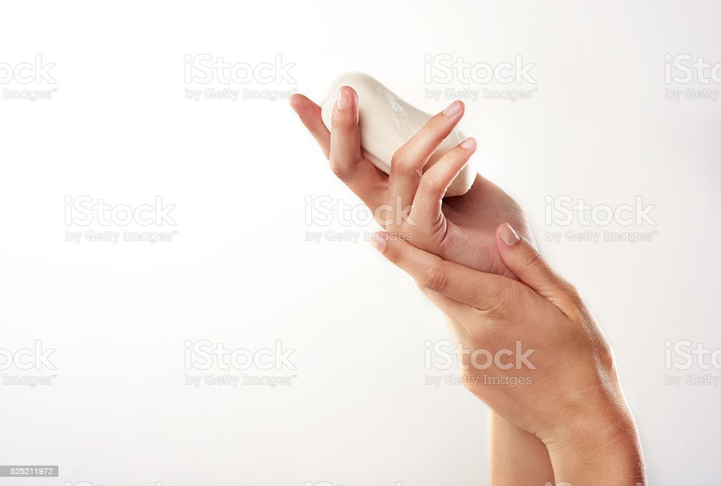 Beauty begins with cleansing stock photo