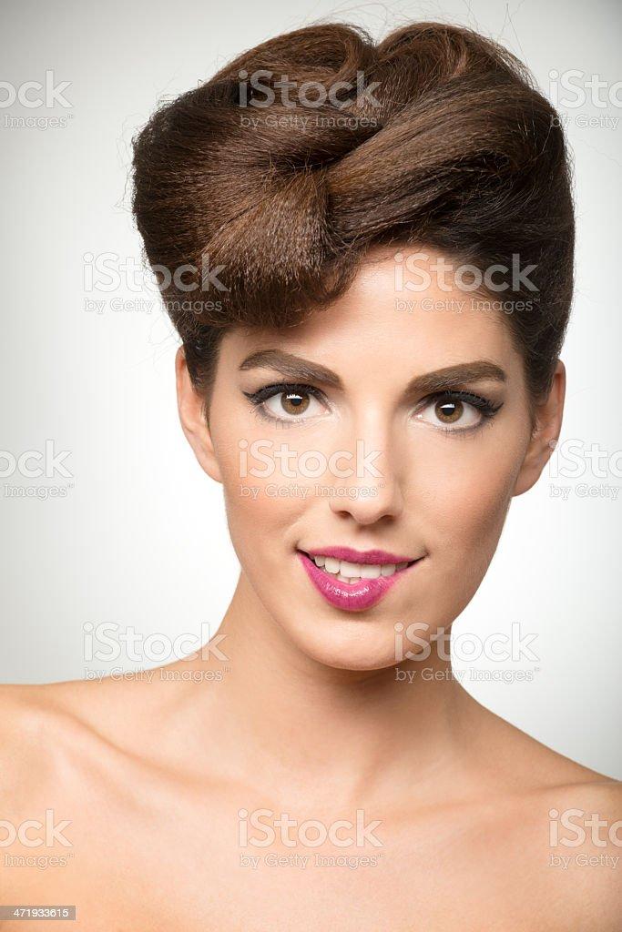 Beauty biting her Lip royalty-free stock photo