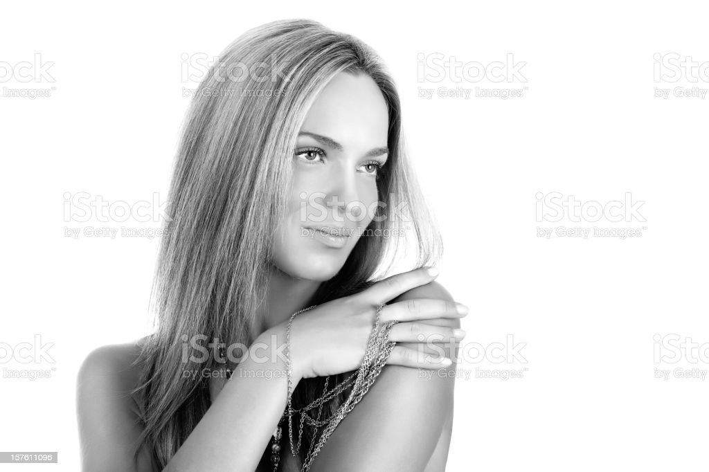 Beauty. Black and white picture. stock photo