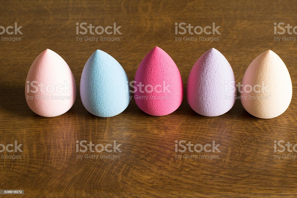 Beauty blenders for makeup stock photo