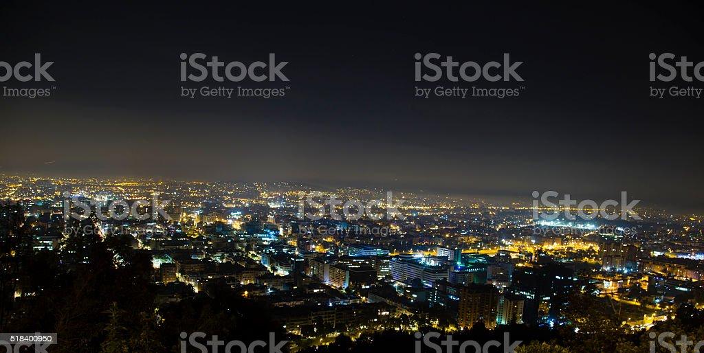 Beauty Bogota at night stock photo