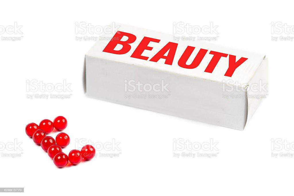 beauty box, vitamin e stock photo