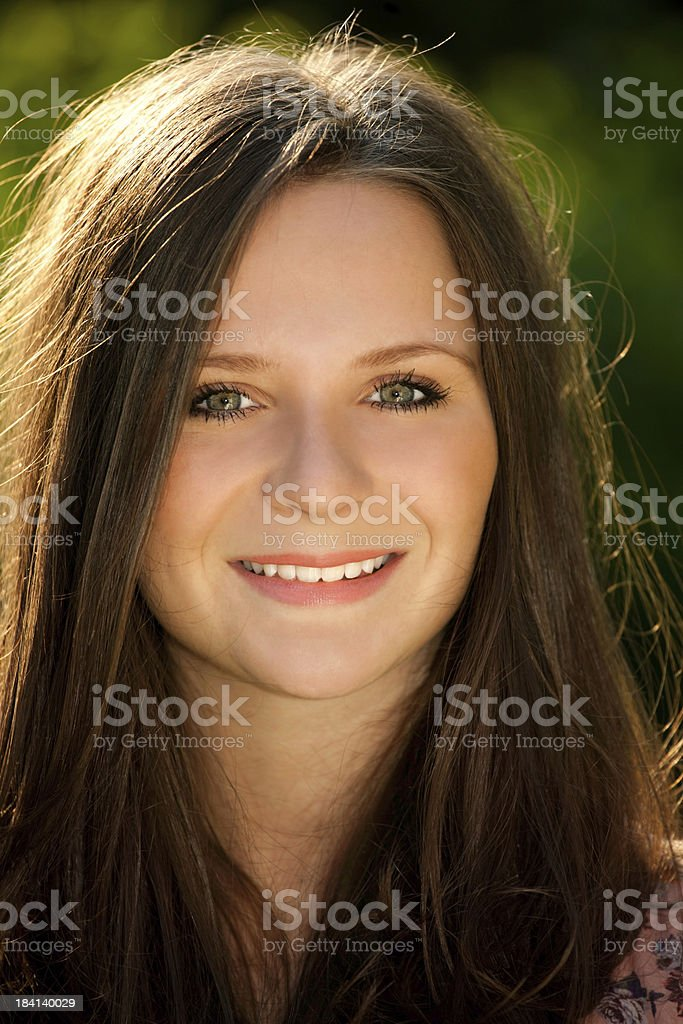 beauty brown hair teenager portrait royalty-free stock photo