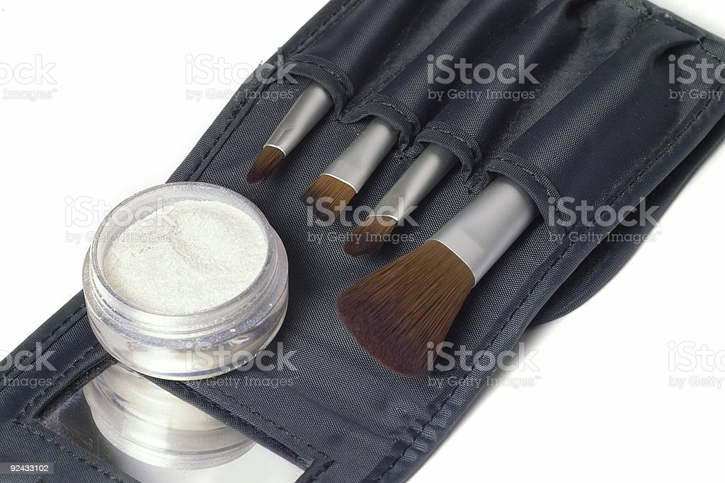 Beauty brushes stock photo