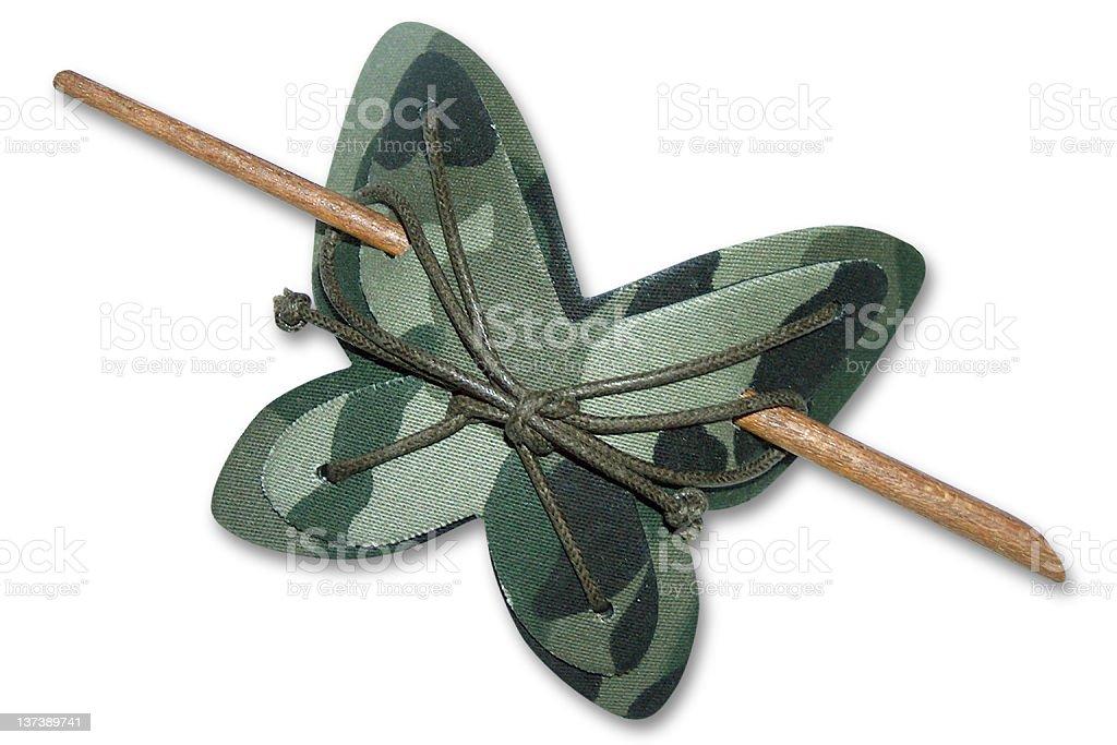 Beauty: Butterfly hairclip royalty-free stock photo
