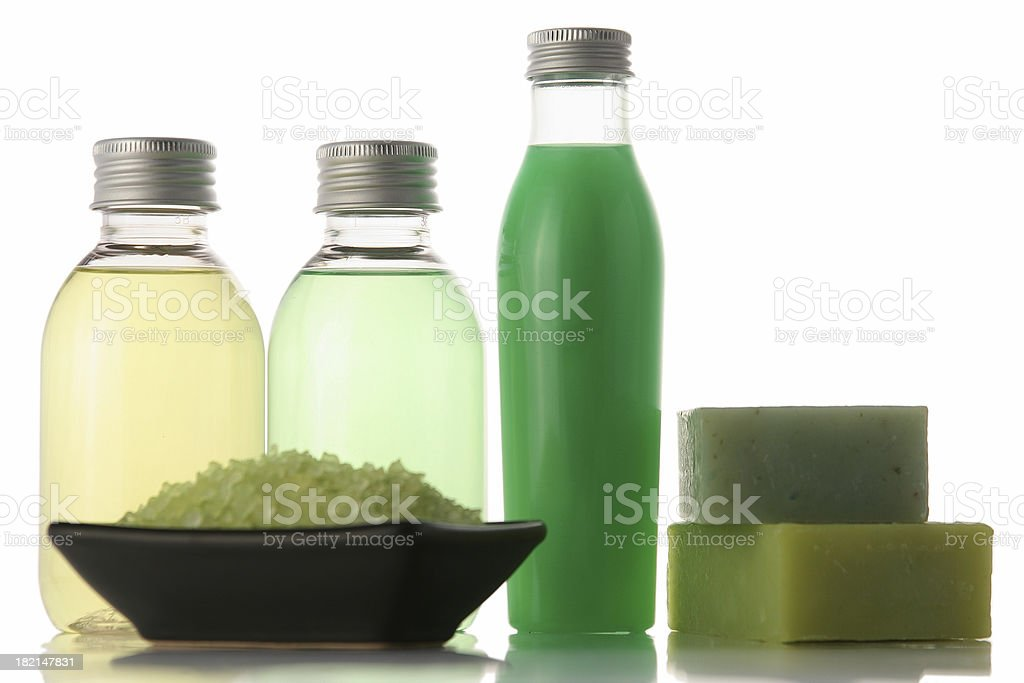 Beauty center [bottles and bars] royalty-free stock photo