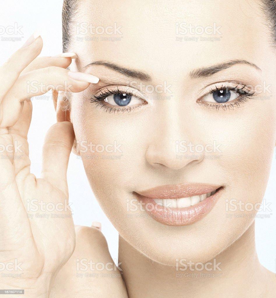 Beauty closeup. stock photo