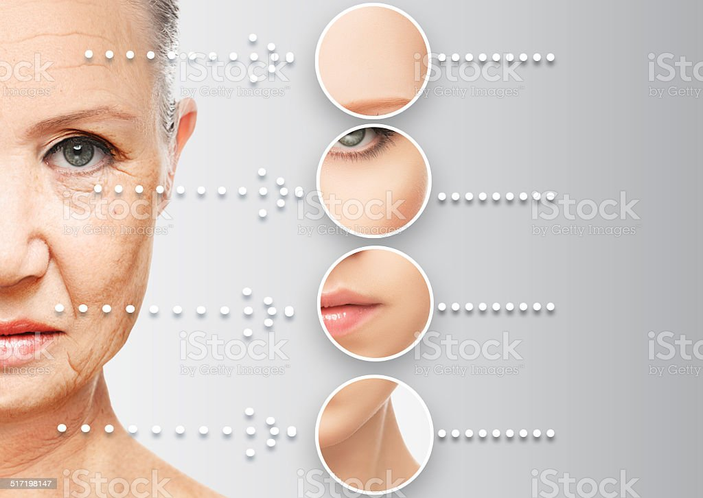 beauty concept skin aging. anti-aging procedures, rejuvenation, stock photo