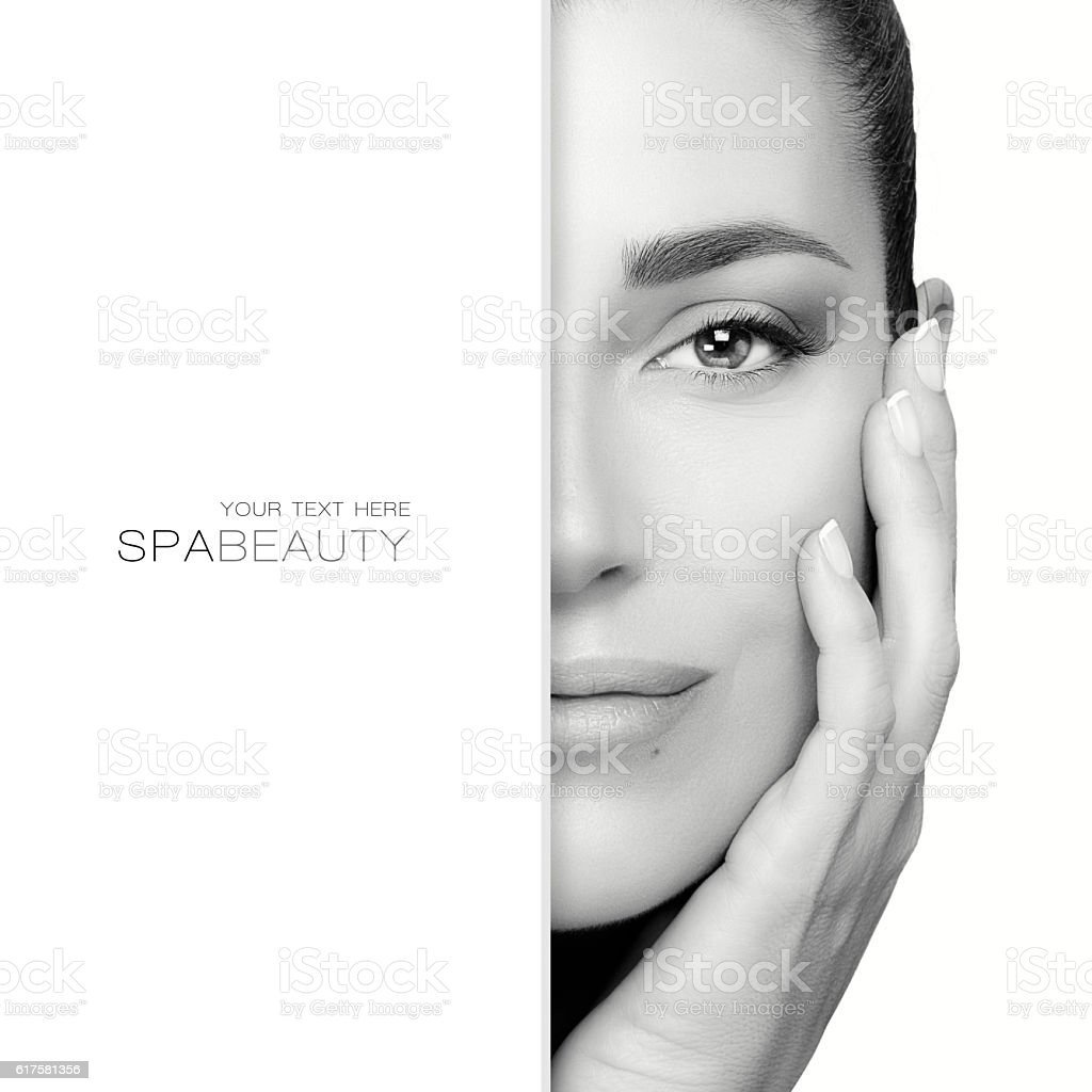 Beauty concept with a gorgeous brunette stock photo