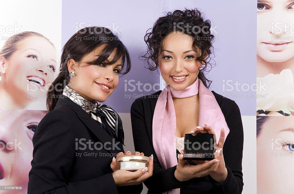 Beauty Consultants royalty-free stock photo