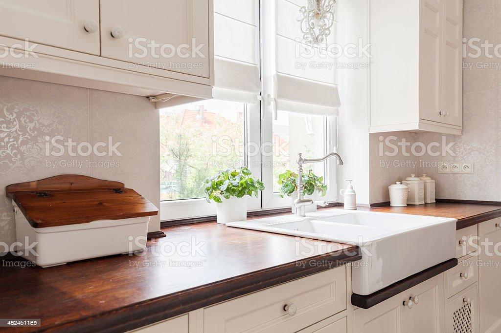 Beauty designed retro kitchen stock photo