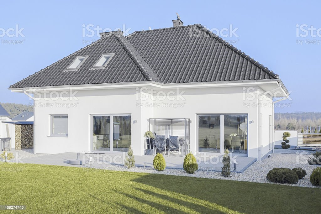 Beauty detached house stock photo