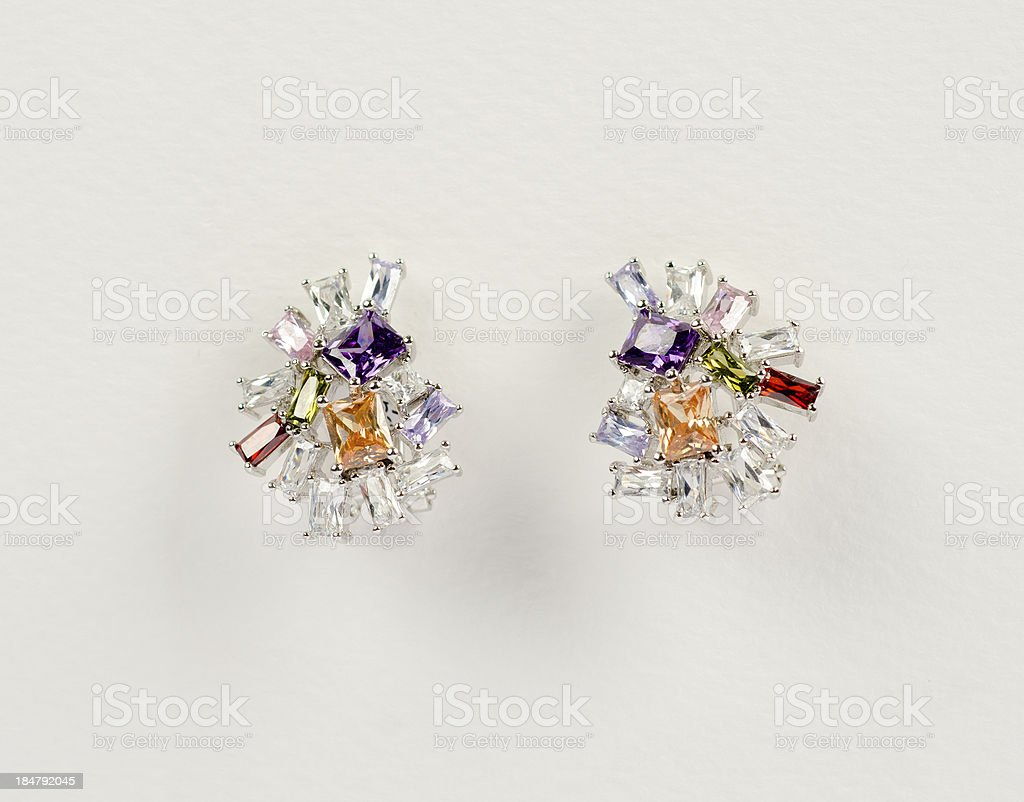 Beauty earrings royalty-free stock photo
