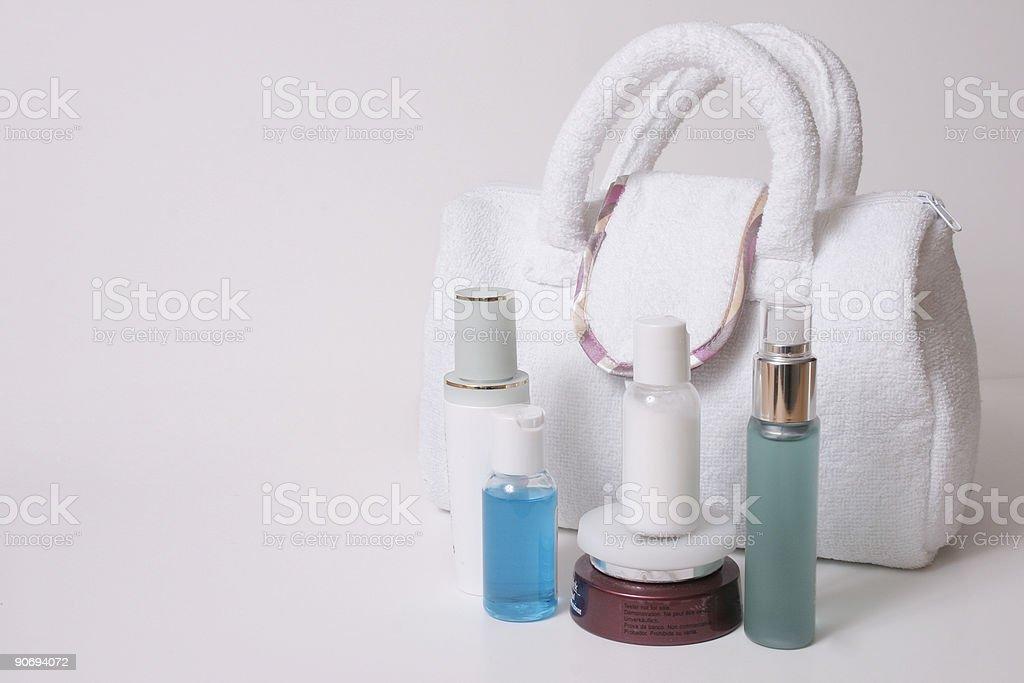 Beauty essentials stock photo