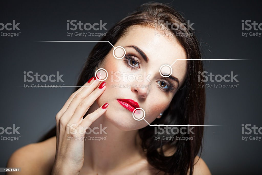 Beauty face concept, anti aging procedures stock photo