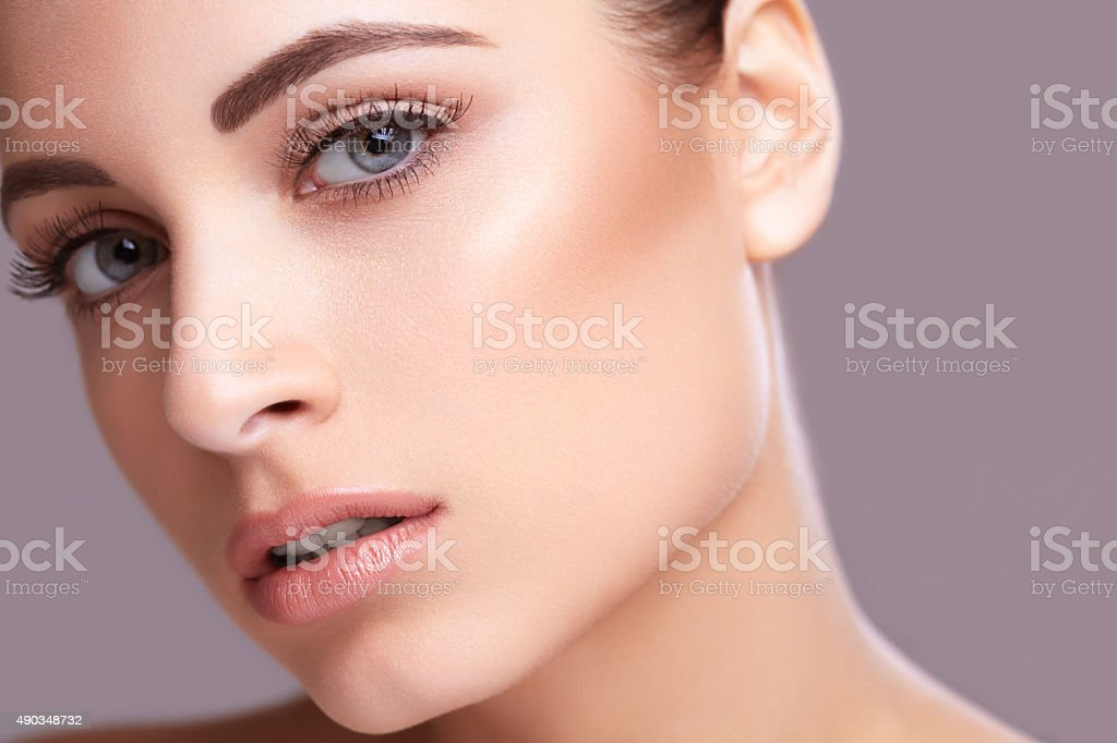 Beauty face portarit of a woman stock photo