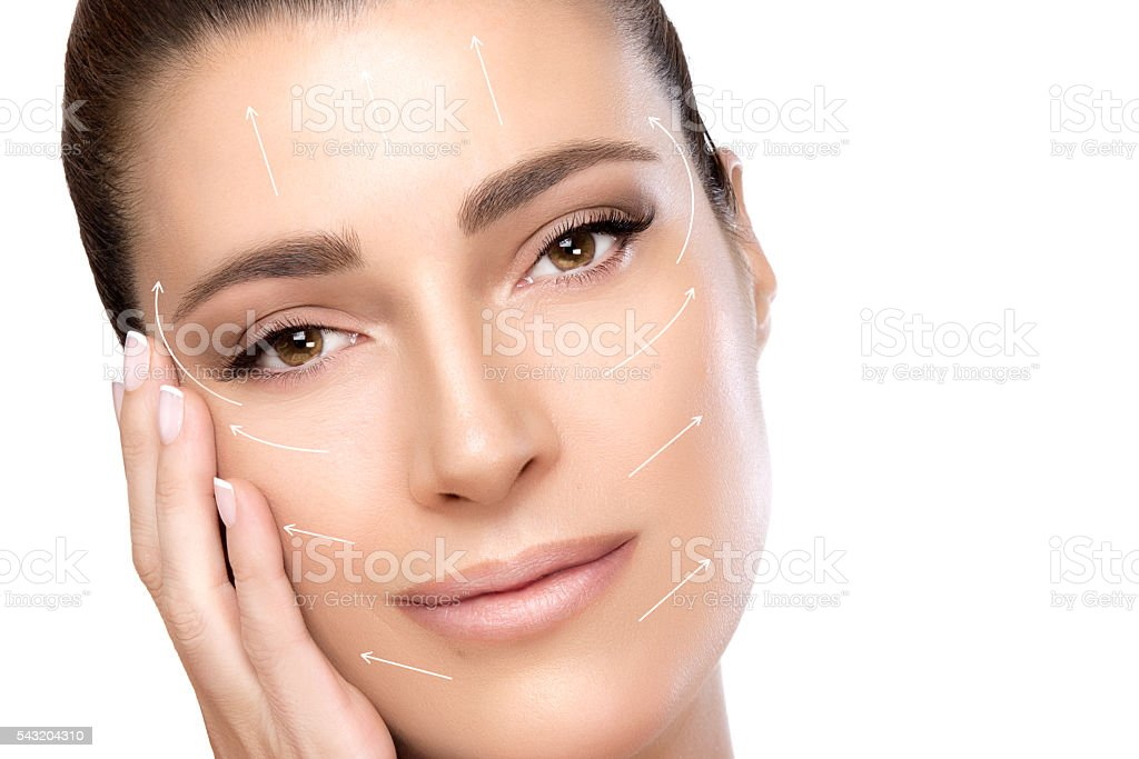 Beauty Face Spa Woman. Surgery and Anti Ageing Concept stock photo