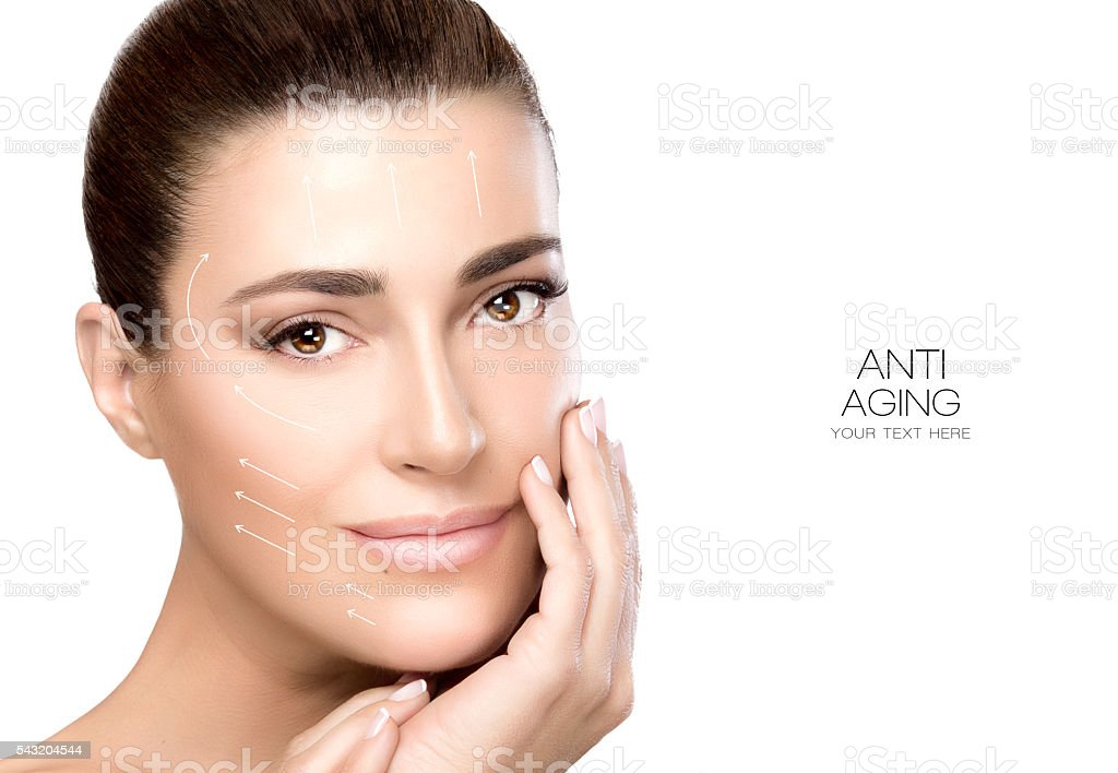 Beauty Face Spa Woman. Surgery and Anti Aging Concept stock photo