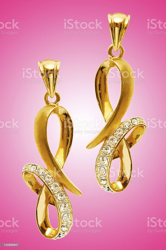 Beauty fashion concept with earrings stock photo