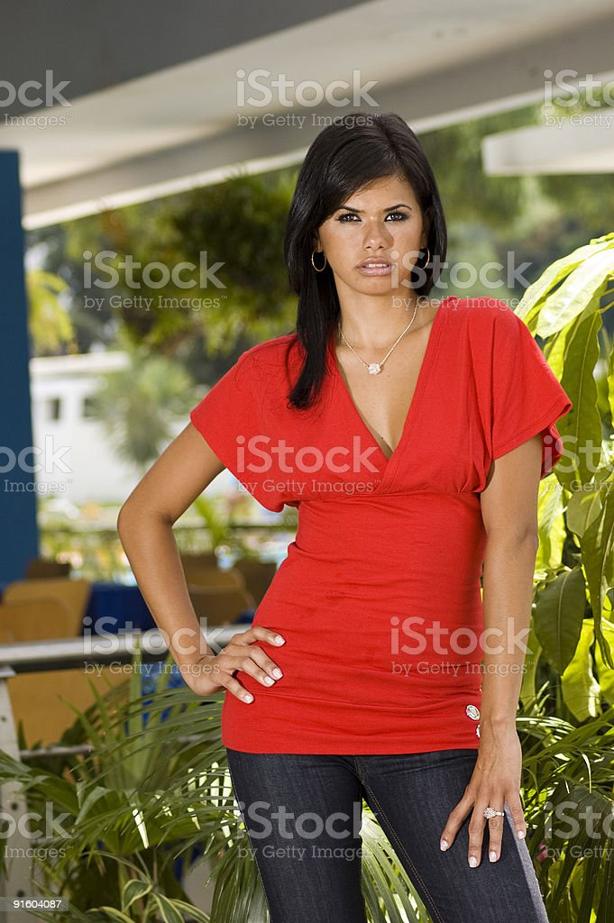 beauty fashion girl dressing red royalty-free stock photo