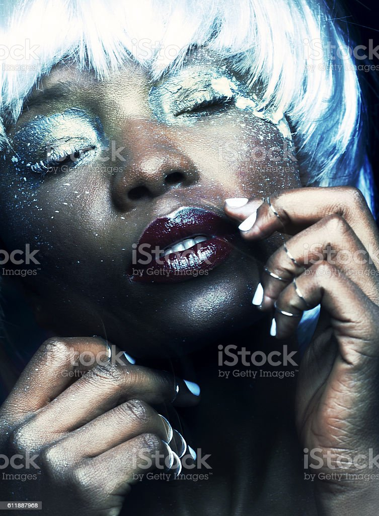beauty fashion make-up stock photo