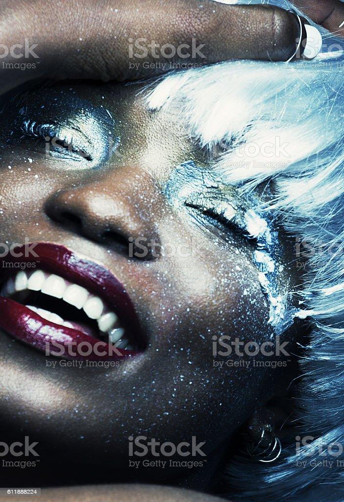 beauty fashion make-up stock photo