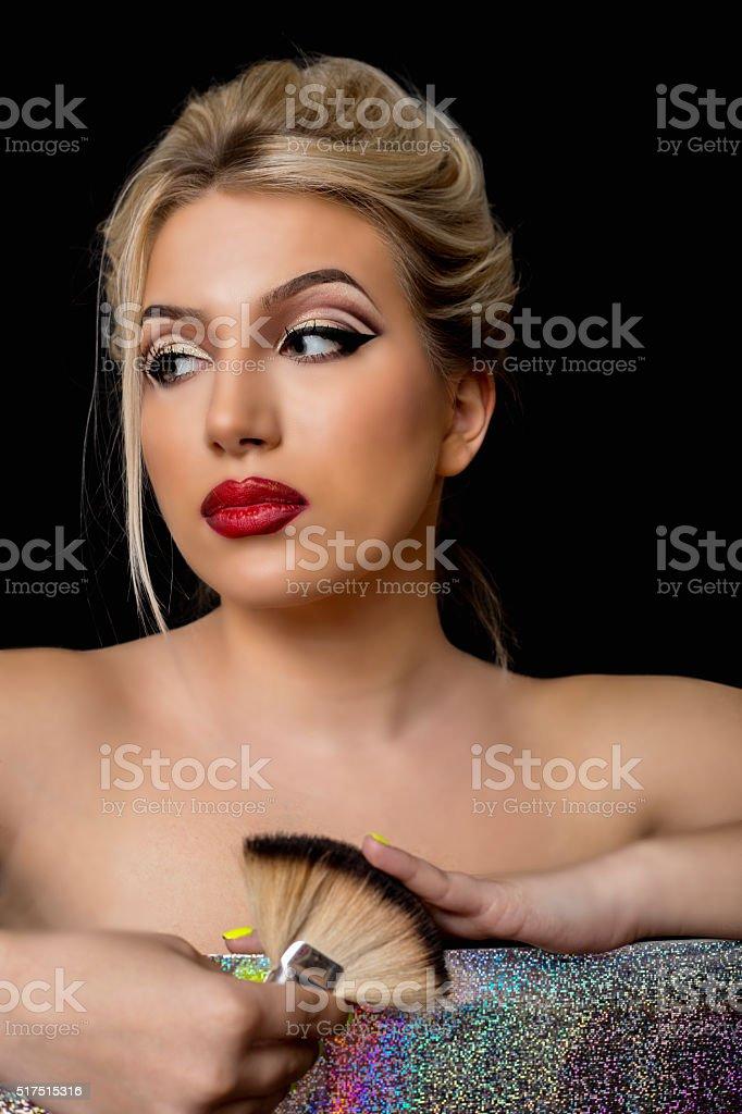 Beauty fashion model girl stock photo