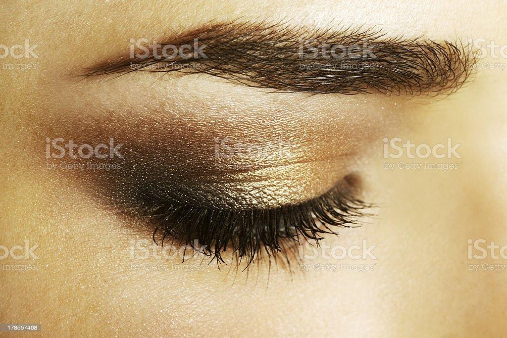 Beauty female eye Makeup. close-up royalty-free stock photo