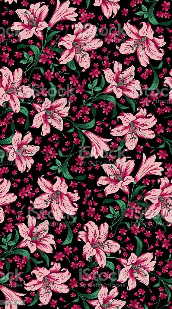 beauty flowers pattern stock photo