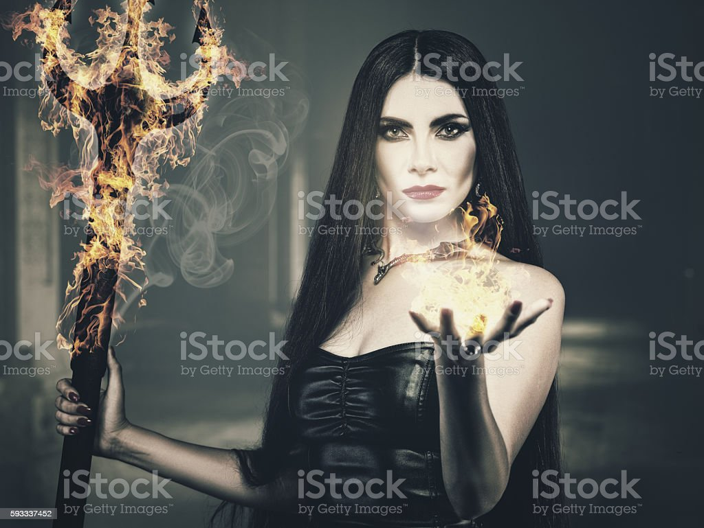 Beauty from the Hell stock photo
