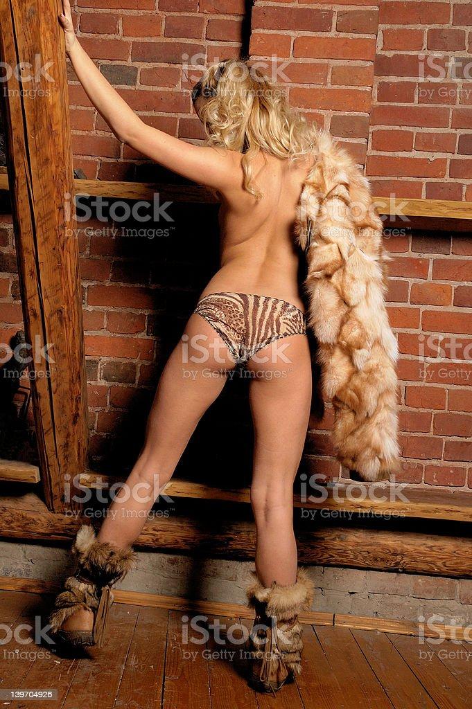 beauty girl behind 2 royalty-free stock photo