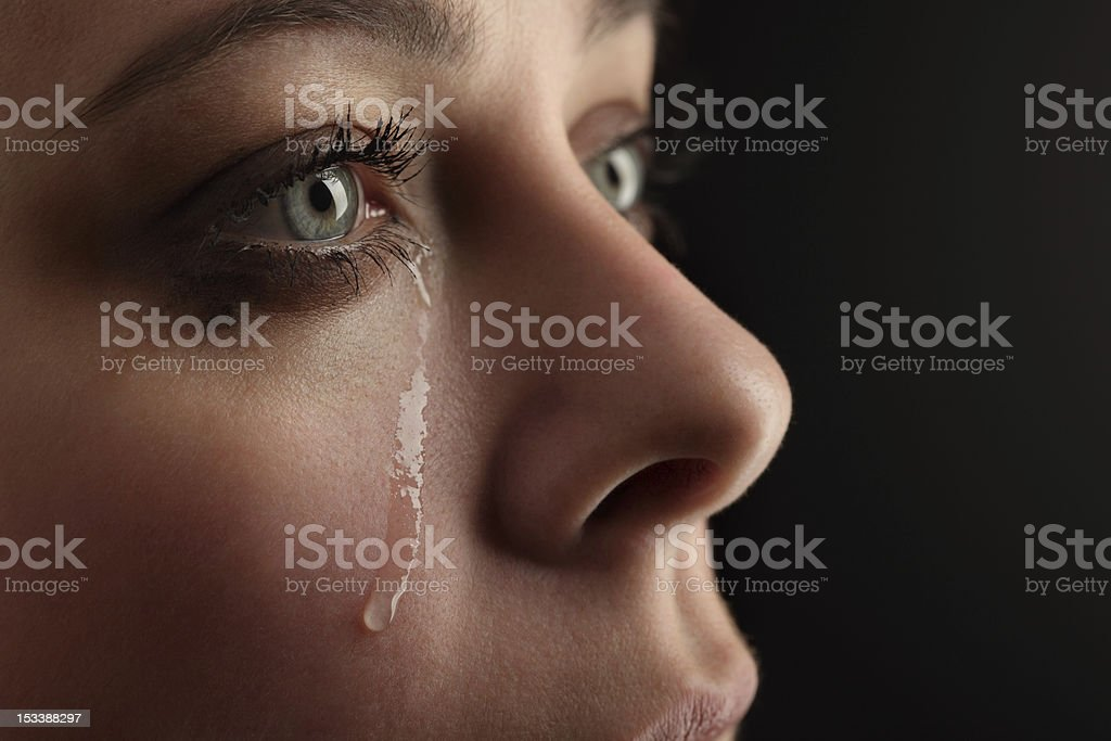 beauty girl cry stock photo