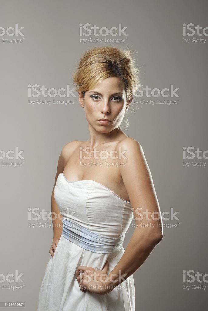 beauty girl fashionable dress stock photo