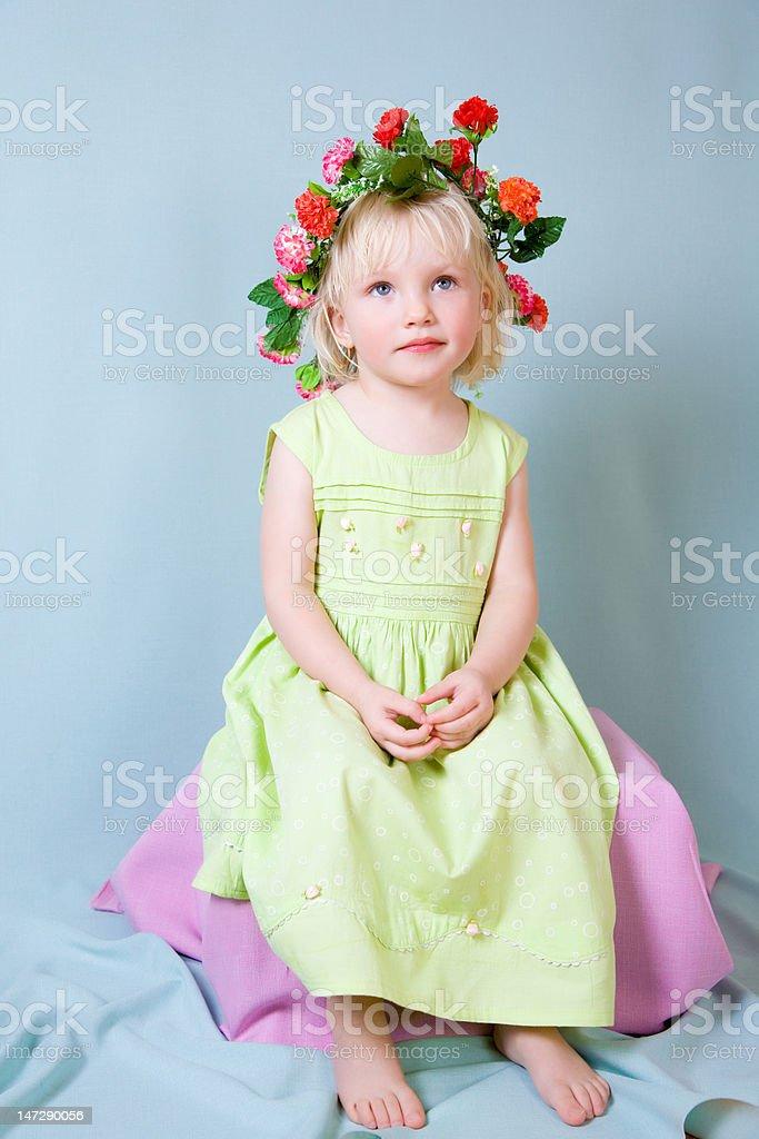 beauty girl sitting royalty-free stock photo
