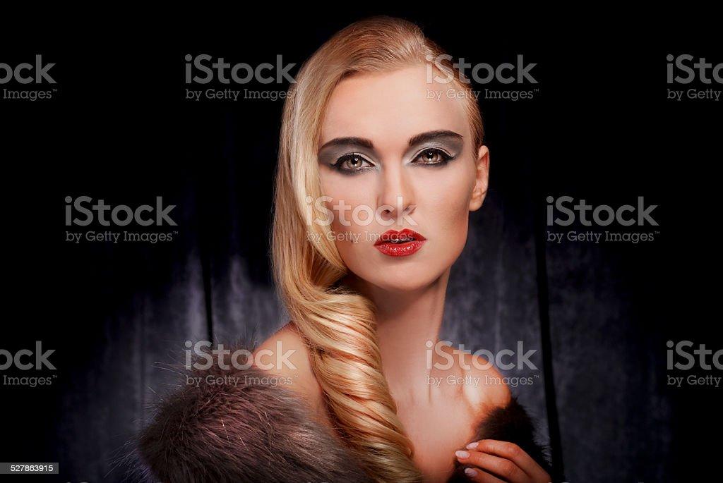 beauty glamour portrait stock photo