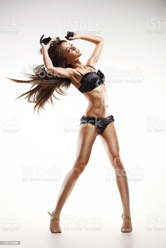 beauty go-go dancer woman. royalty-free stock photo