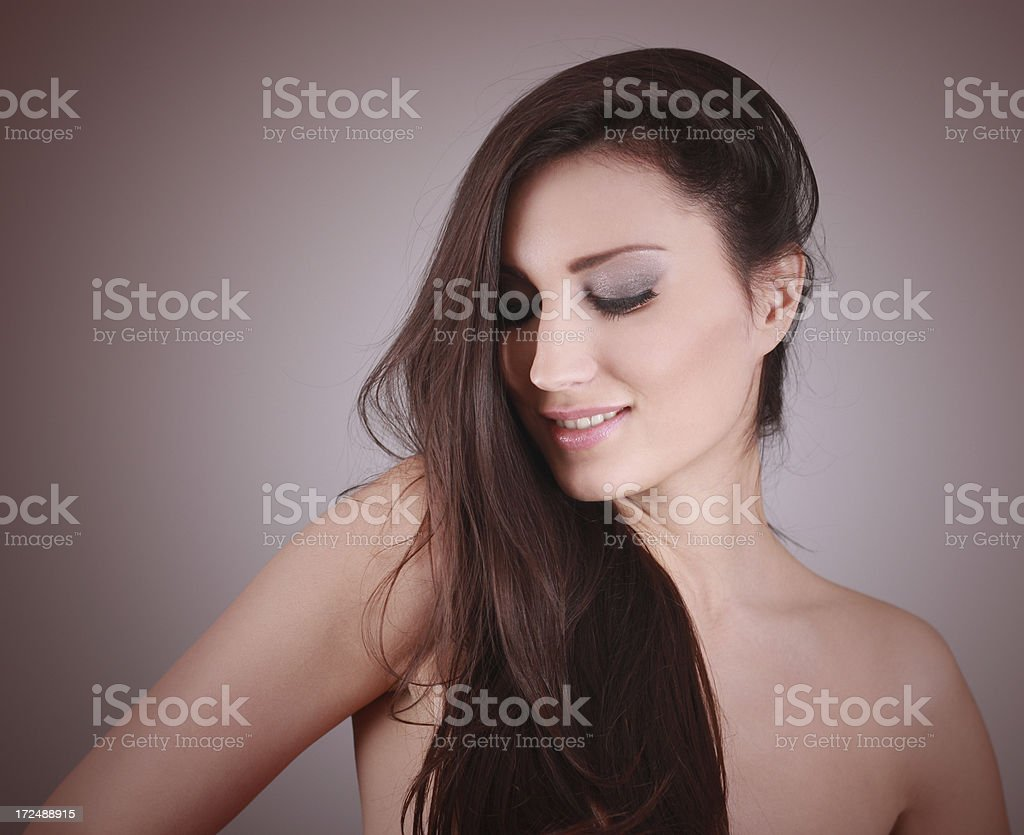 Beauty hair and makeup portrait royalty-free stock photo