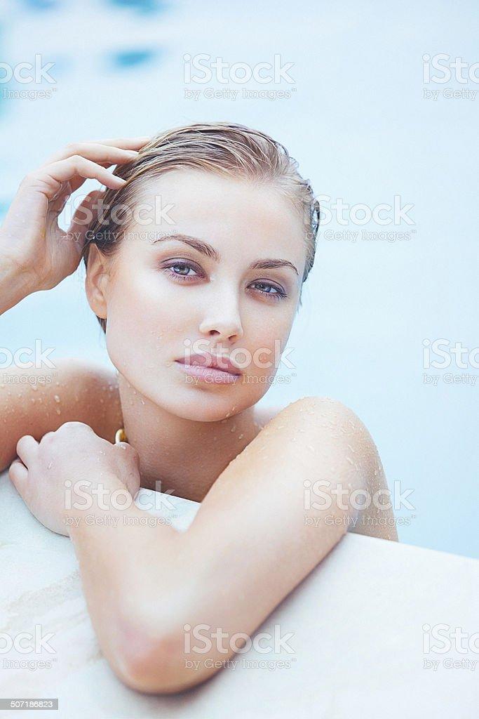 Beauty headshot of a beautiful young woman stock photo