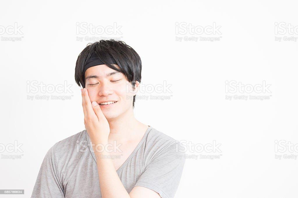 Beauty image (men and beauty care lotion, face) photo libre de droits