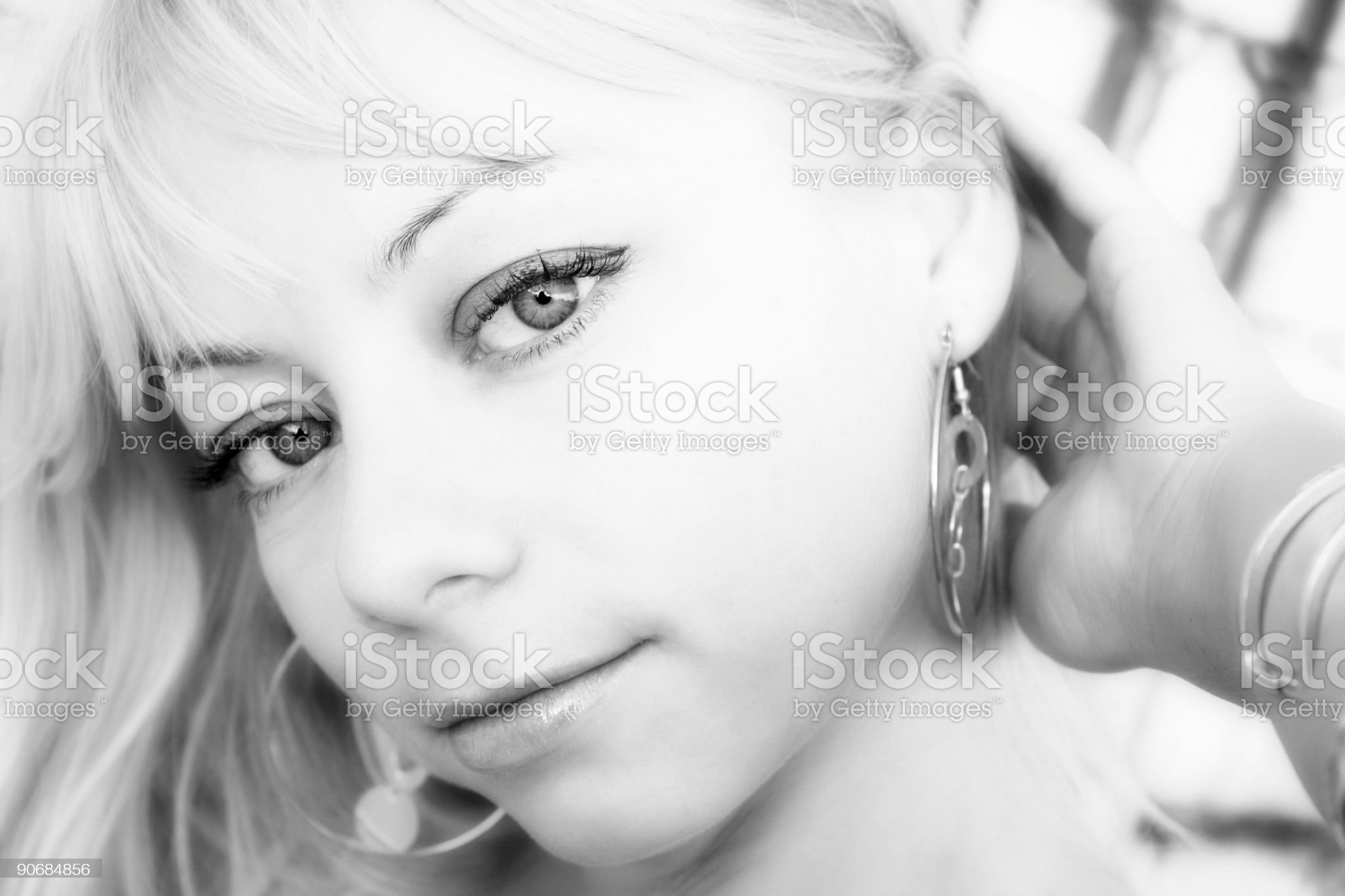 Beauty in Black and White royalty-free stock photo