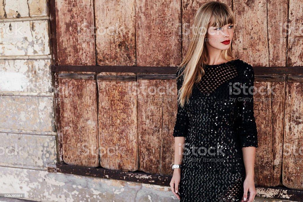 Beauty in black stock photo