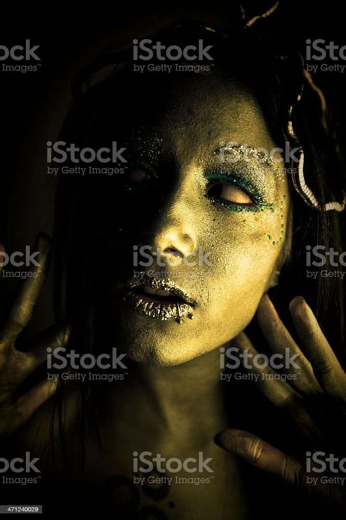 Beauty in evil stock photo