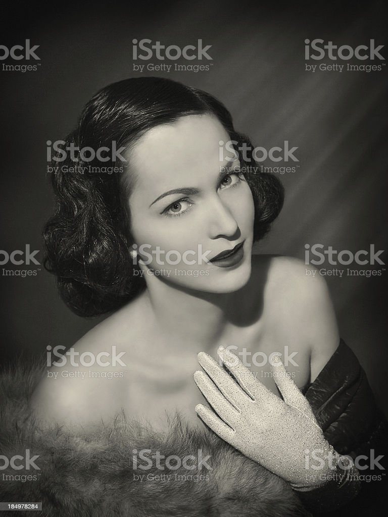 Beauty in film noir style stock photo