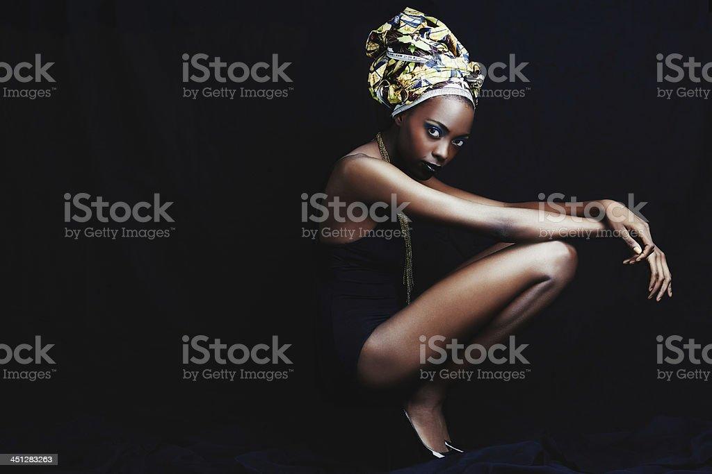 Beauty in full-length stock photo