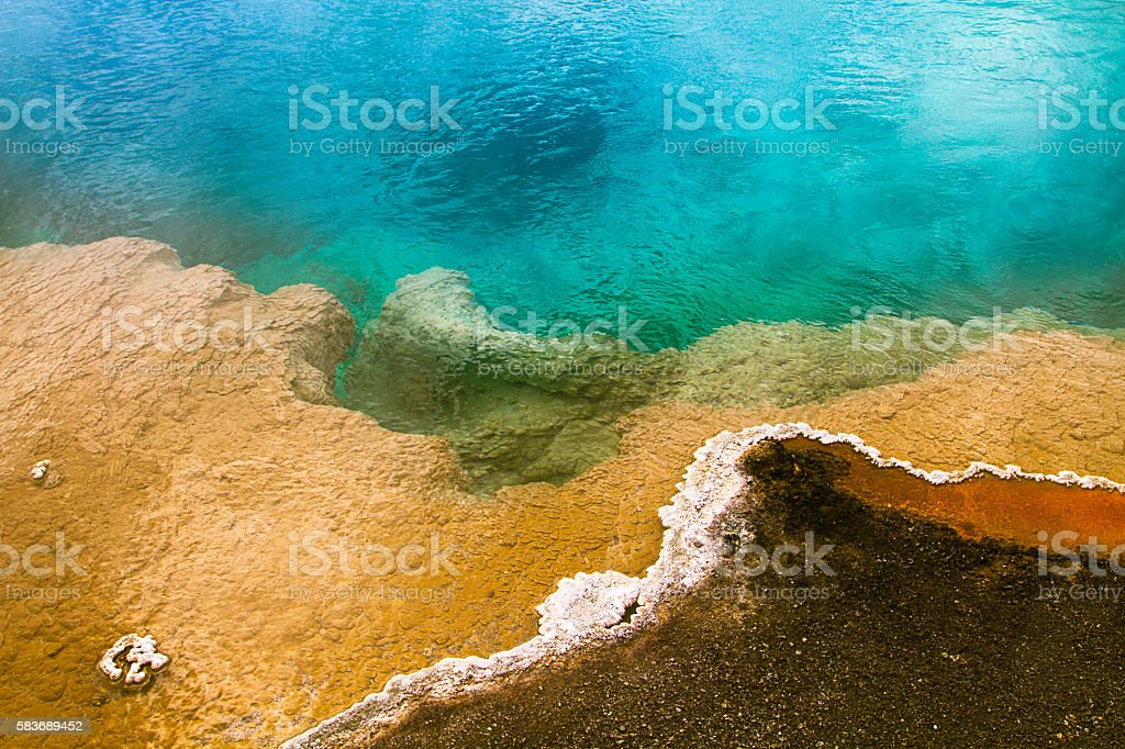 Beauty in natural geysers stock photo