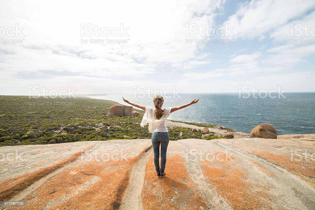 Beauty in nature, getting away from it all stock photo